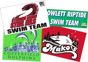 Swim Team Banners