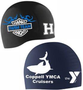 Choose silicone swim caps for your swim team.