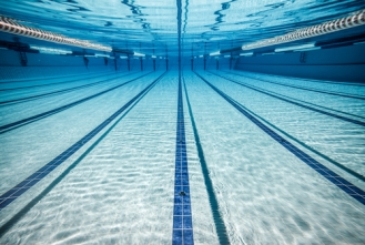 Sweat can be found in competitive swimming pools.
