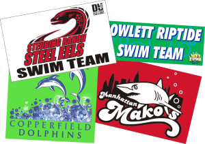 Boost team spirit with swim team banners.