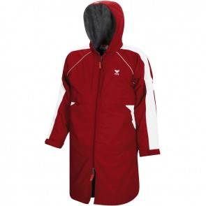 After race recovery can benefit from swim team parkas.