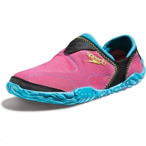 Protect your feet around the pool with swim shoes.