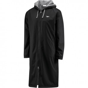 A swim parka keeps you warm on the sidelines.